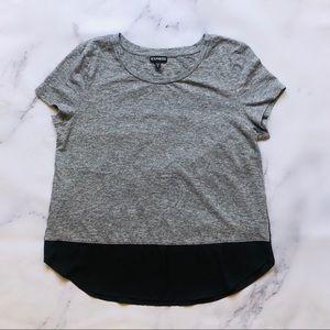 Express Grey Black Short Sleeve Tee